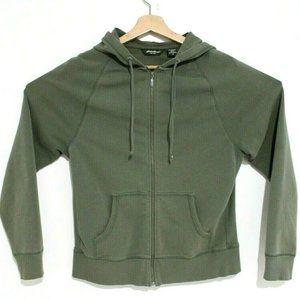 Eddie Bauer Womens Size Medium Army Green Cotton